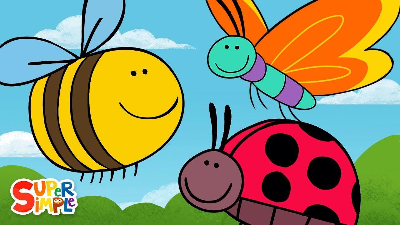 Butterfly ladybug bumblebee super simple songs youtube