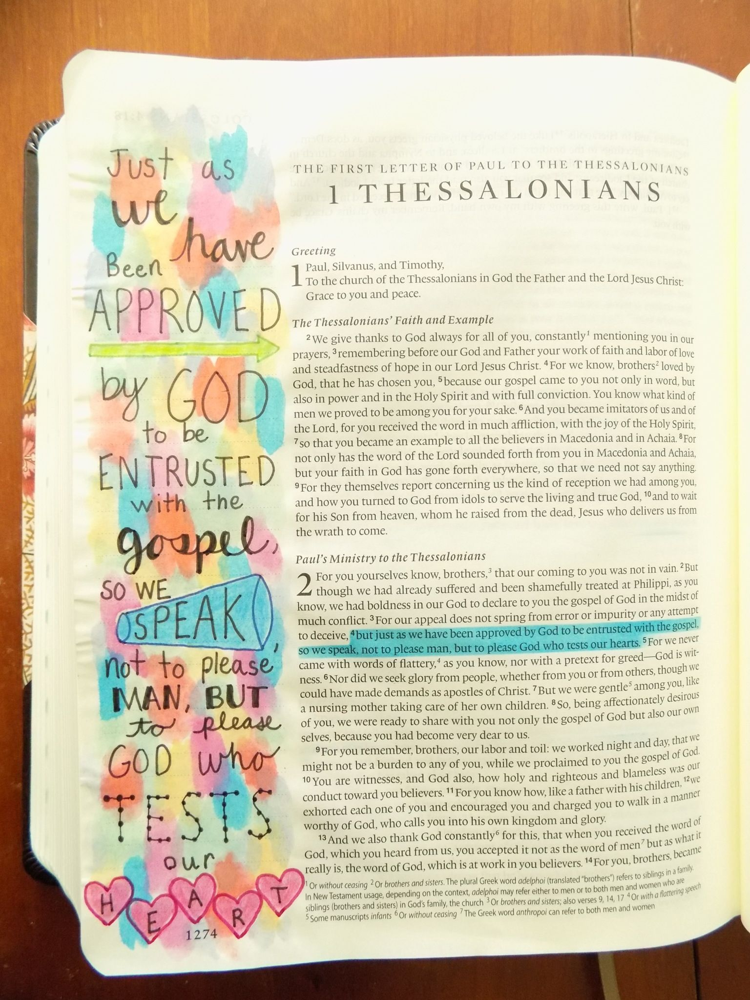 1 Thessalonians 24 Bible Biblejournaling Bible Journaling