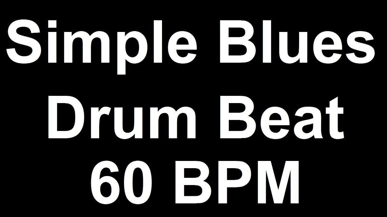 Basic Blues Drum Beat 60 BPM Bass Guitar Backing Track