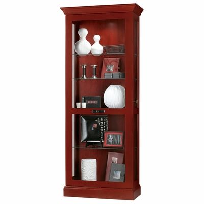 Beau Howard Miller Preston Chili Red Display Cabinet   680423