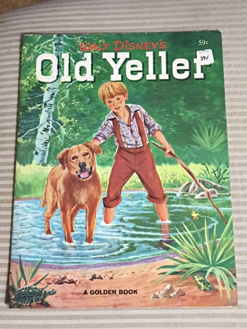 Walt Disney Old Yeller Big Golden Book Softcover 1958 Gipson
