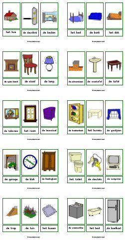 Woordkaarten downloads » Juf Sanne | Thema huis | Pinterest ...