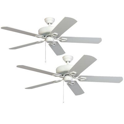 Harbor Breeze 52 Builder Series Hanover White 2 Pack Ceiling Fans