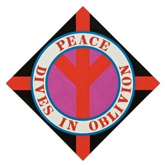 Peace Dives in Oblivion By Robert Indiana ,2003