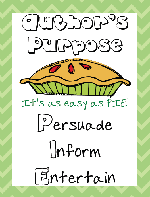 Author's purpose anchor chart. Seen this is a first grade ...