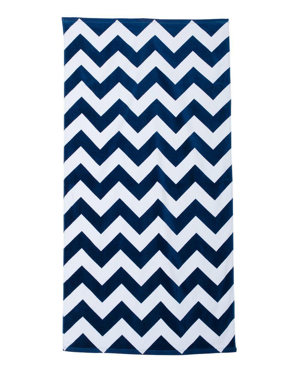Carmel Towel Company Chevron Velour Beach Towel C3060x With