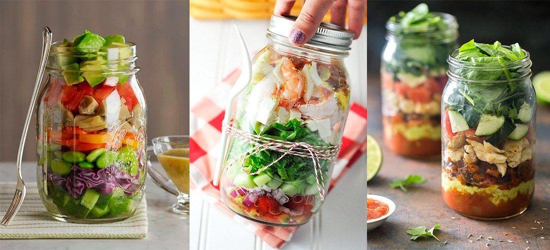 5 recetas saludables que puedes transportar en un mason jar
