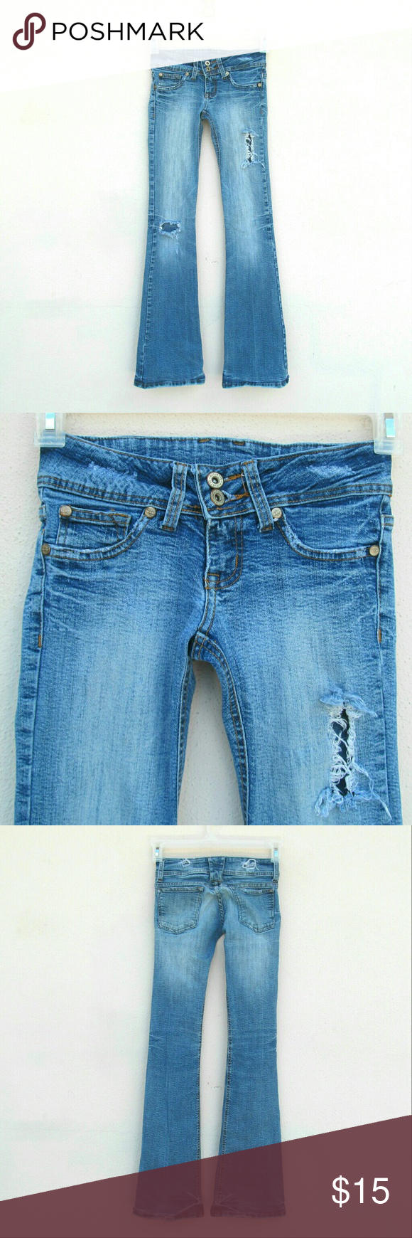 Alouette Denim Jeans Pants Size 2 It seems to run small. Like I personally think it will fit a 0 or 1 best Alouette Jeans