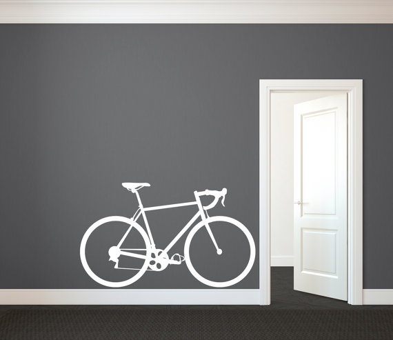 Black//White Vintage Style Cruiser Bike Sticker Decal Graphic Bicycle 3 for 1-4/""
