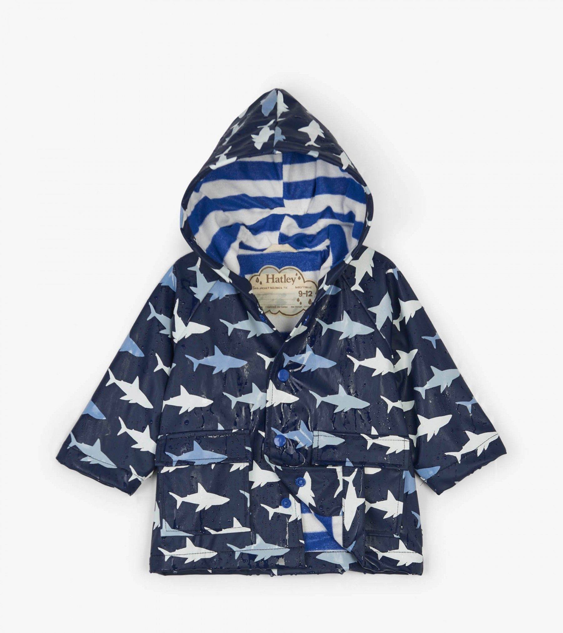 8750fb3b6 Colour Changing Shark Frenzy Baby Raincoat - Rainwear - Categories ...