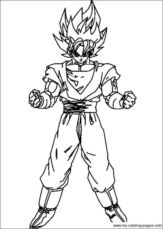 dbz color  DragonBallZColoringPages030  Projects to Try