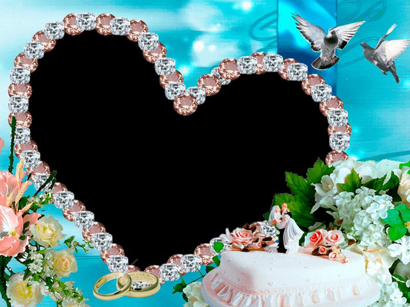 marco foto de boda