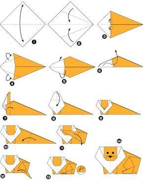 origami leo facile origami origa. Black Bedroom Furniture Sets. Home Design Ideas