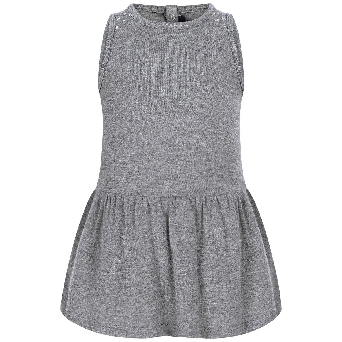 dkny baby girls grey sleeveless jersey u0026 tulle dress laste