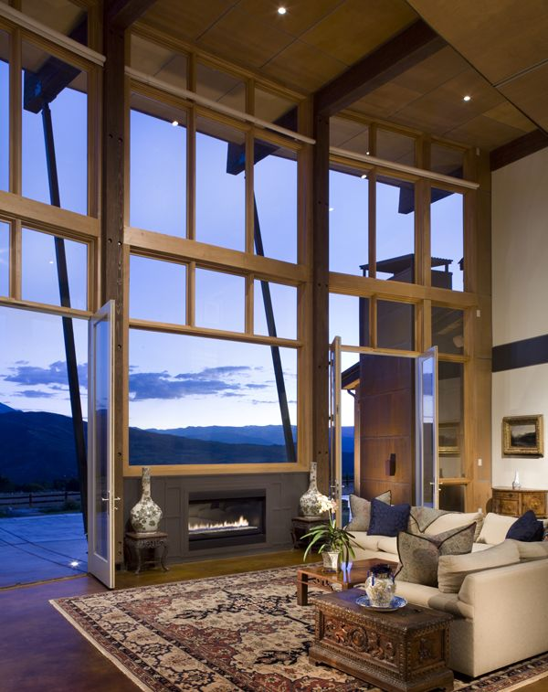 Gas Fireplace | Living Room Window | Open Plan | Real Estate | Interiors