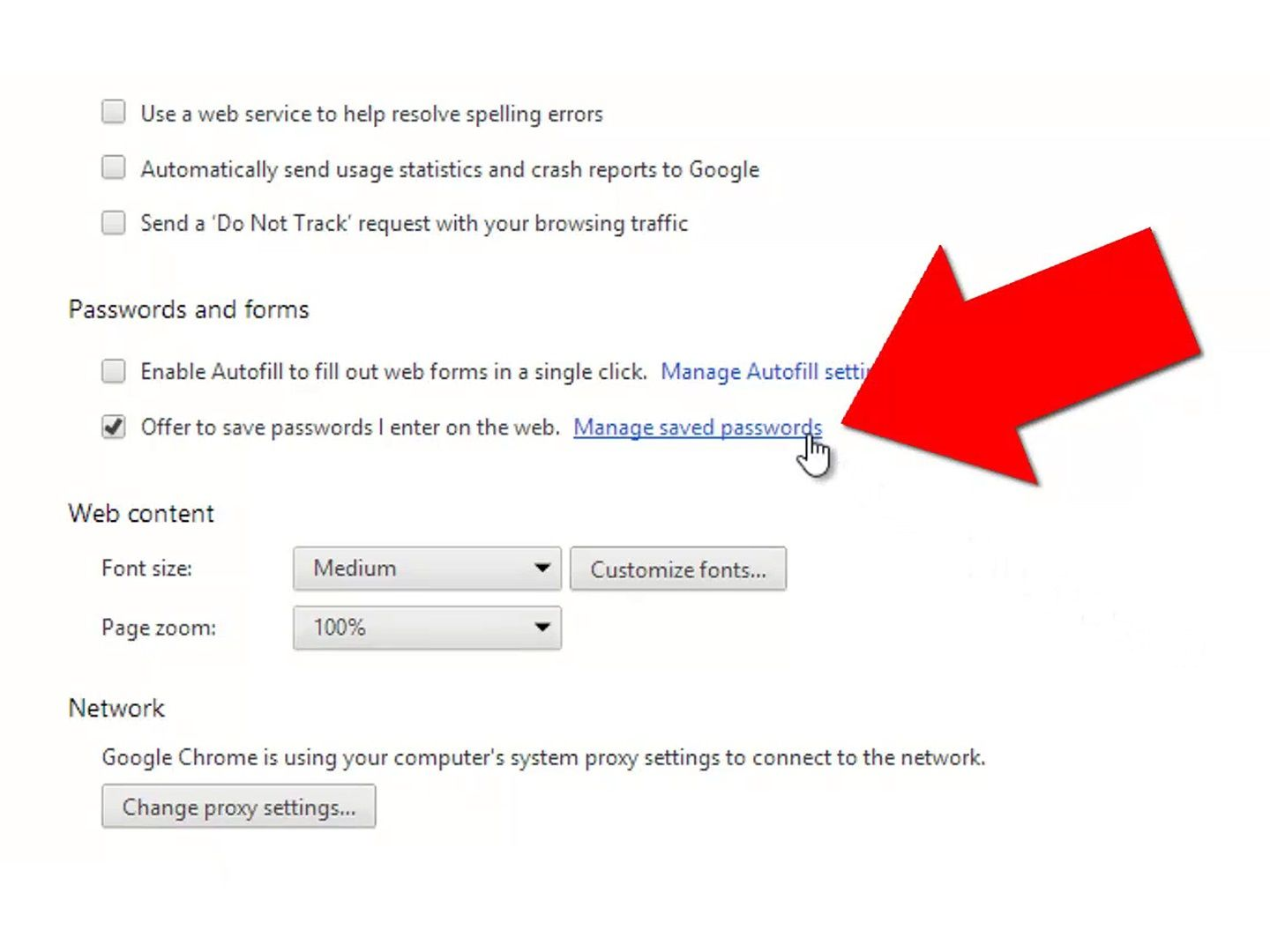 Manage Saved Passwords in Google Chrome   computer   Saved passwords