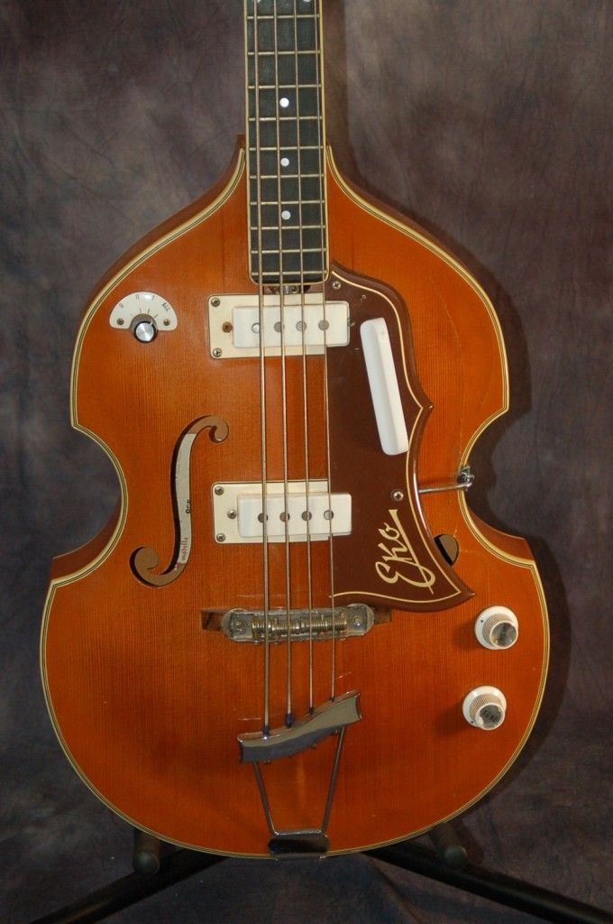 The Bass Guitar 1965 Eko 995 Violin Beatle Bass With Original Case Sold Musica