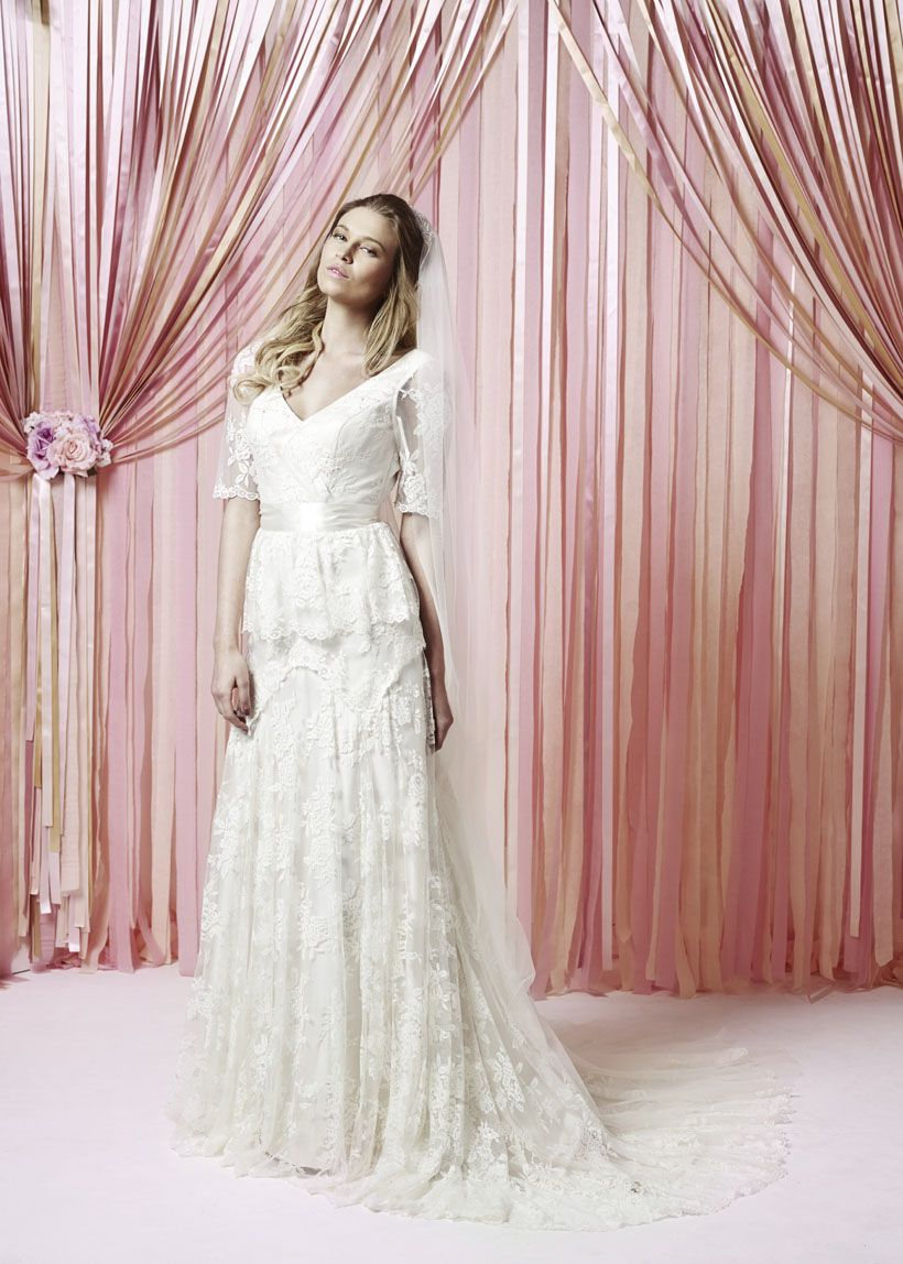 Lucy from Charlotte Balbier\'s 2015 Collection | Half sleeve wedding ...