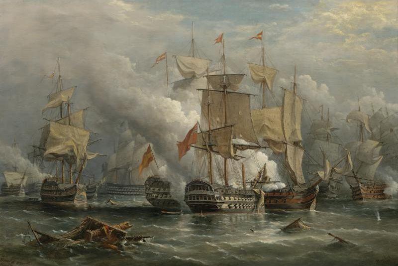File Batalha Do Cabo De Sao Vicente Jpg Hms Victory Battle Nautical Art