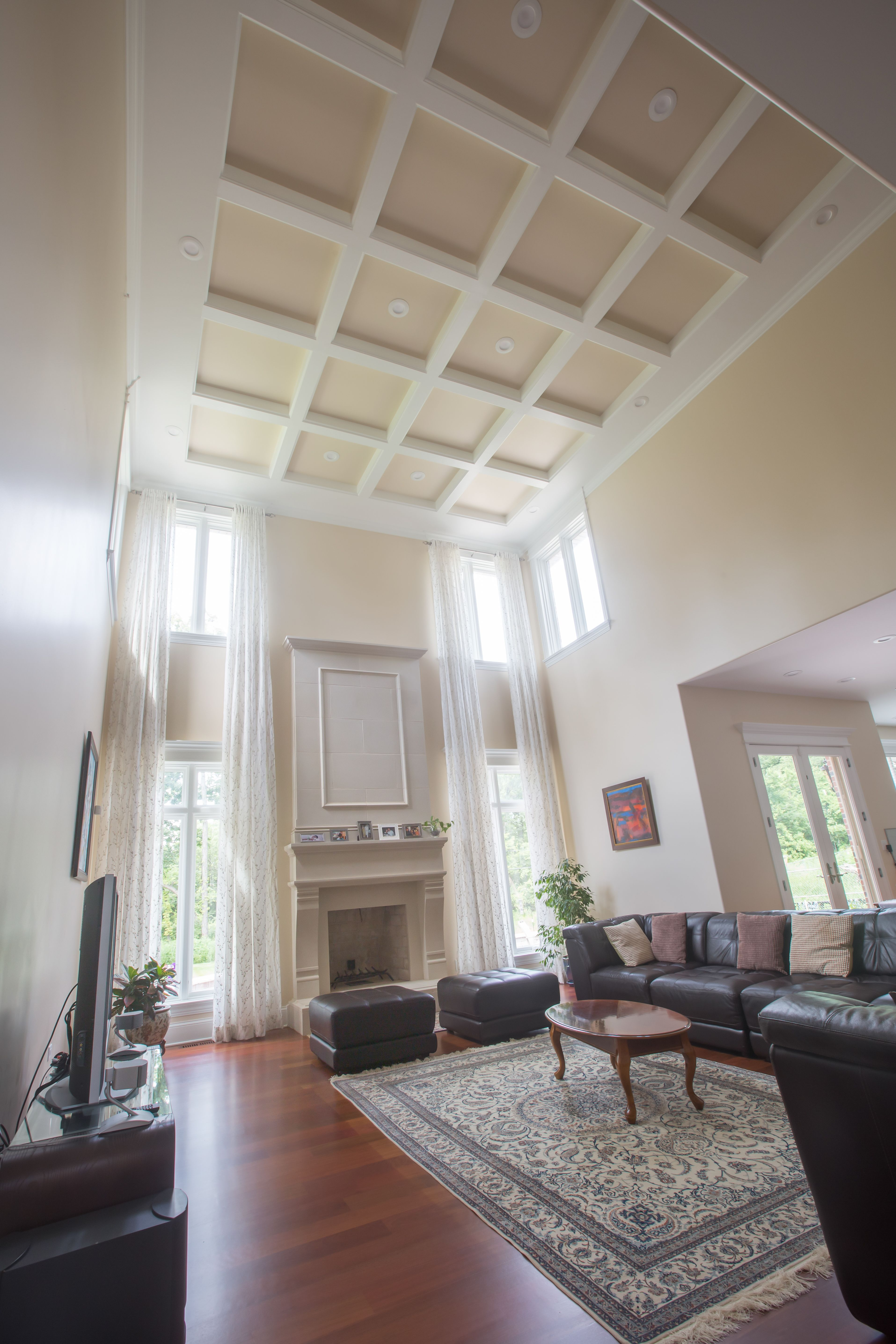 Coffered ceilings are affordable with Trim-Tex and the