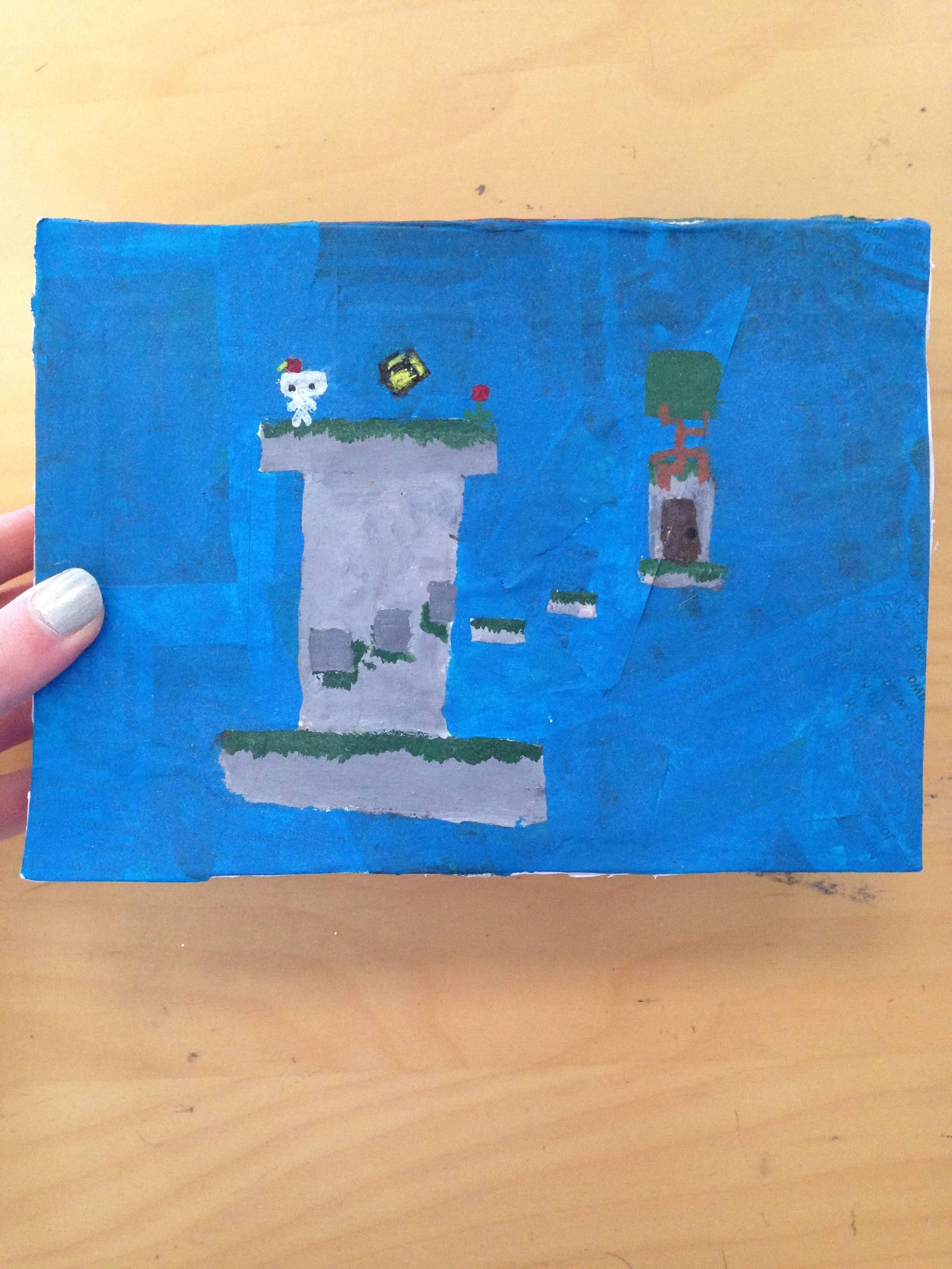 played Fez with my 10 year old sister, she decorated this
