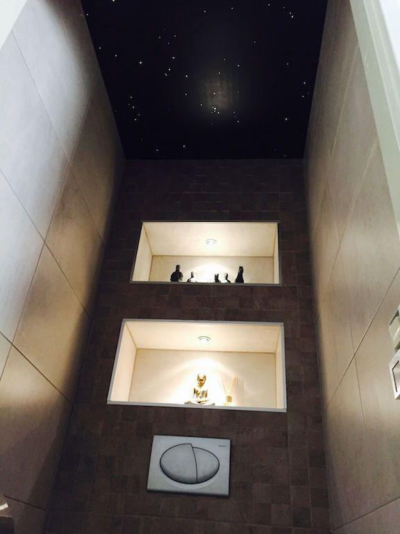 Dubbele nis home badkamer toilet pinterest wc badkamer en inspiratie - Spiegel wc ontwerp ...