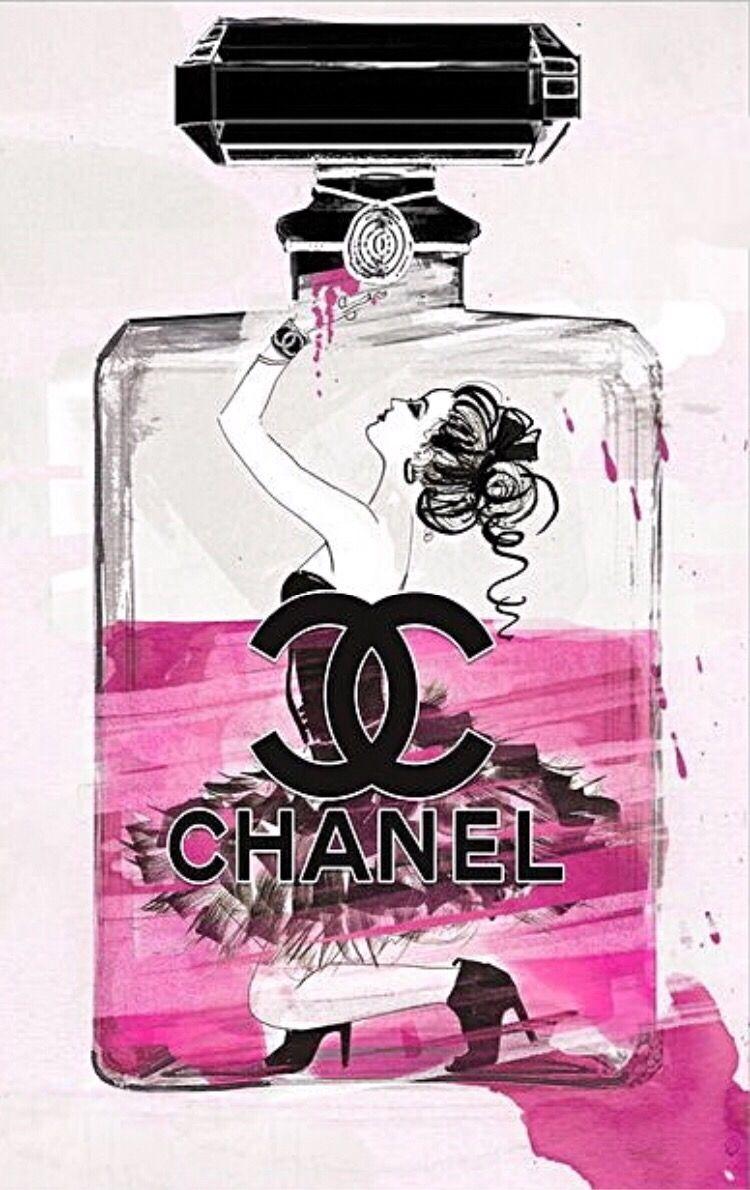 Chanel Maquillage Illustration Peinture Sur Toile Facile Art Mural Imprimable