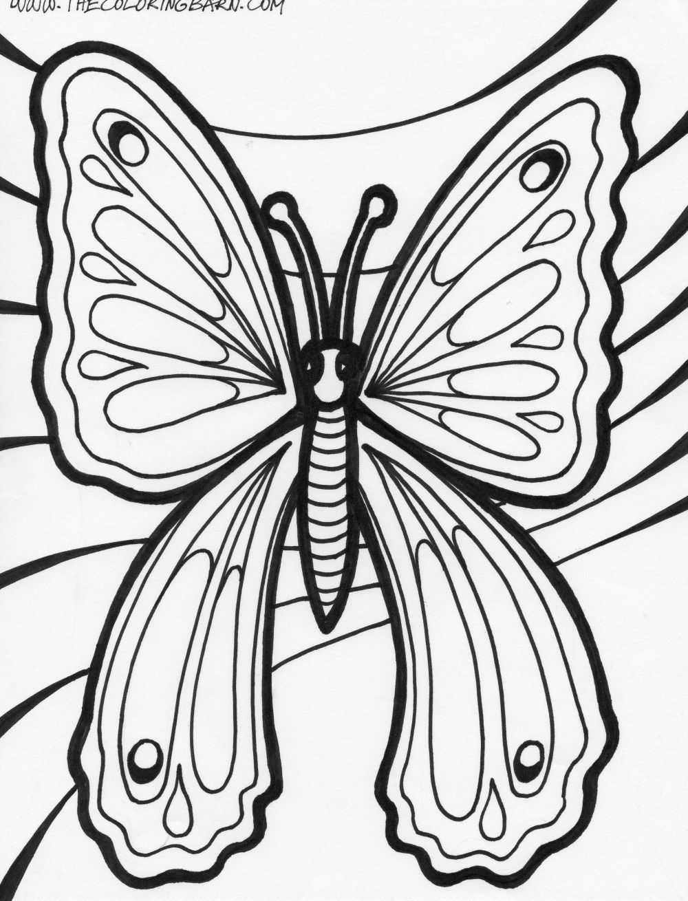 Butterfly Coloring Page Butterfly drawing, Glass