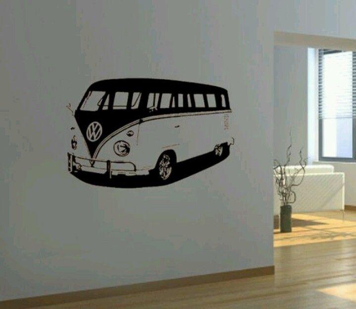 Vw Bus Wall Art In Black White Volkswagen Bus Volkswagen Vw Art