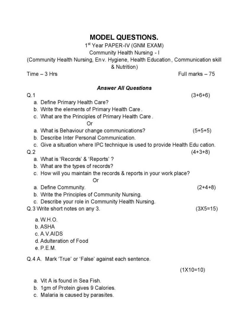 Question Paper For Gnm 2018 2019 Studychacha This Or That