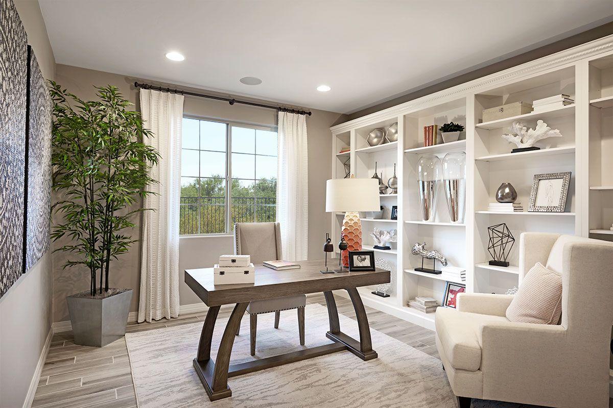 Useful Beautiful Built In Shelving Hopewell Model Home Study
