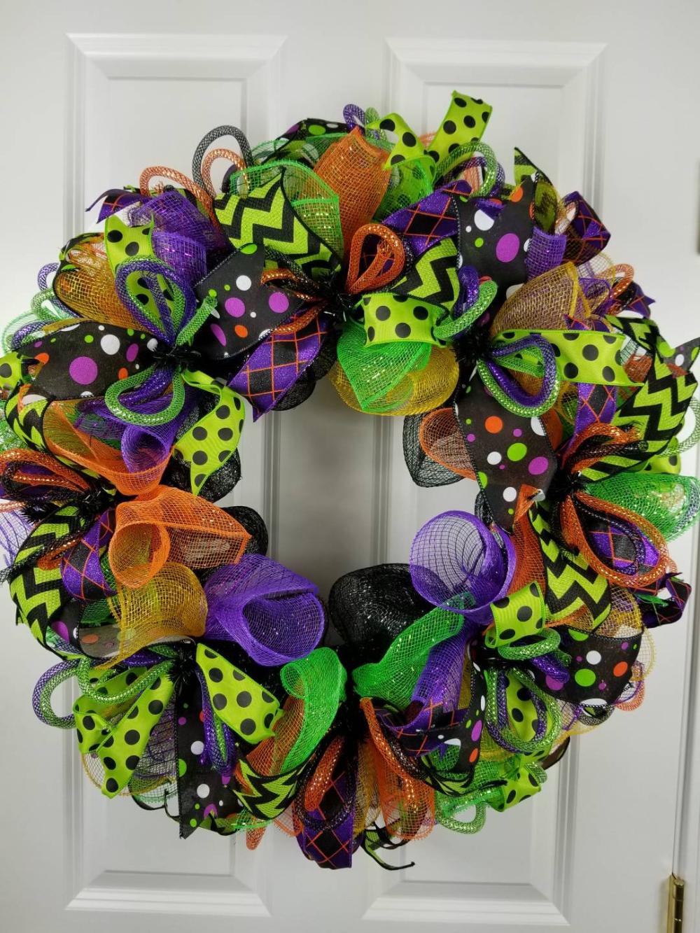 Halloween wreath, Halloween wreath for front door, Fall wreath for front door, Realtor client gift, Front door Halloween wreath, Fall decor