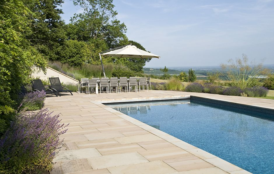 Another View Of This Swimming Pool In Kent Designed By Acres Wild Www Acreswild Co Uk Country Garden Design Garden Swimming Pool Pool