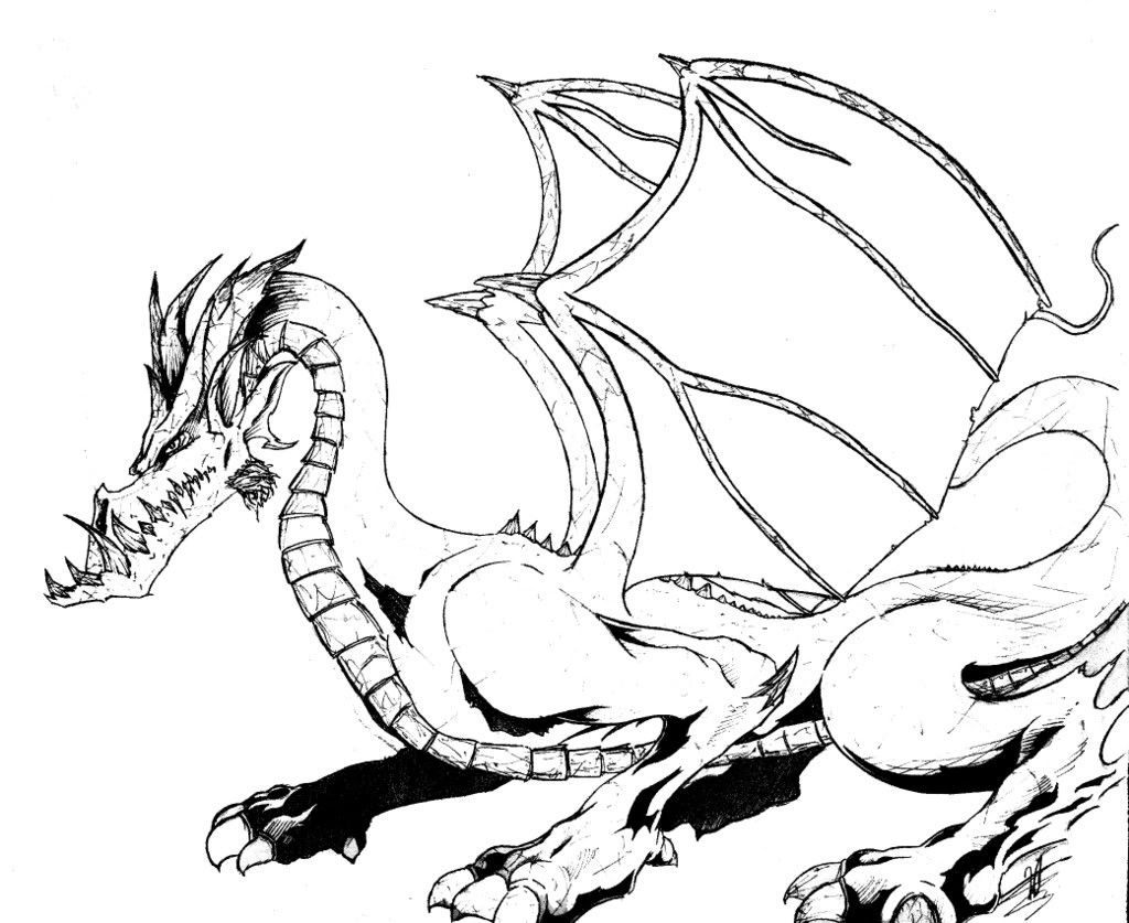 Printable Dragon Coloring Pages Best Pict Of Free Printable Dragon ...