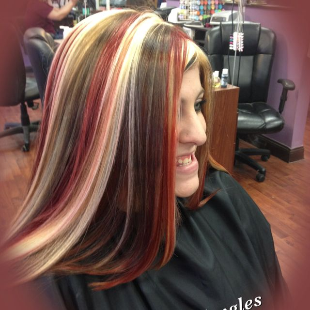 Multiple Color Highlights Hair Pinterest Color Highlights