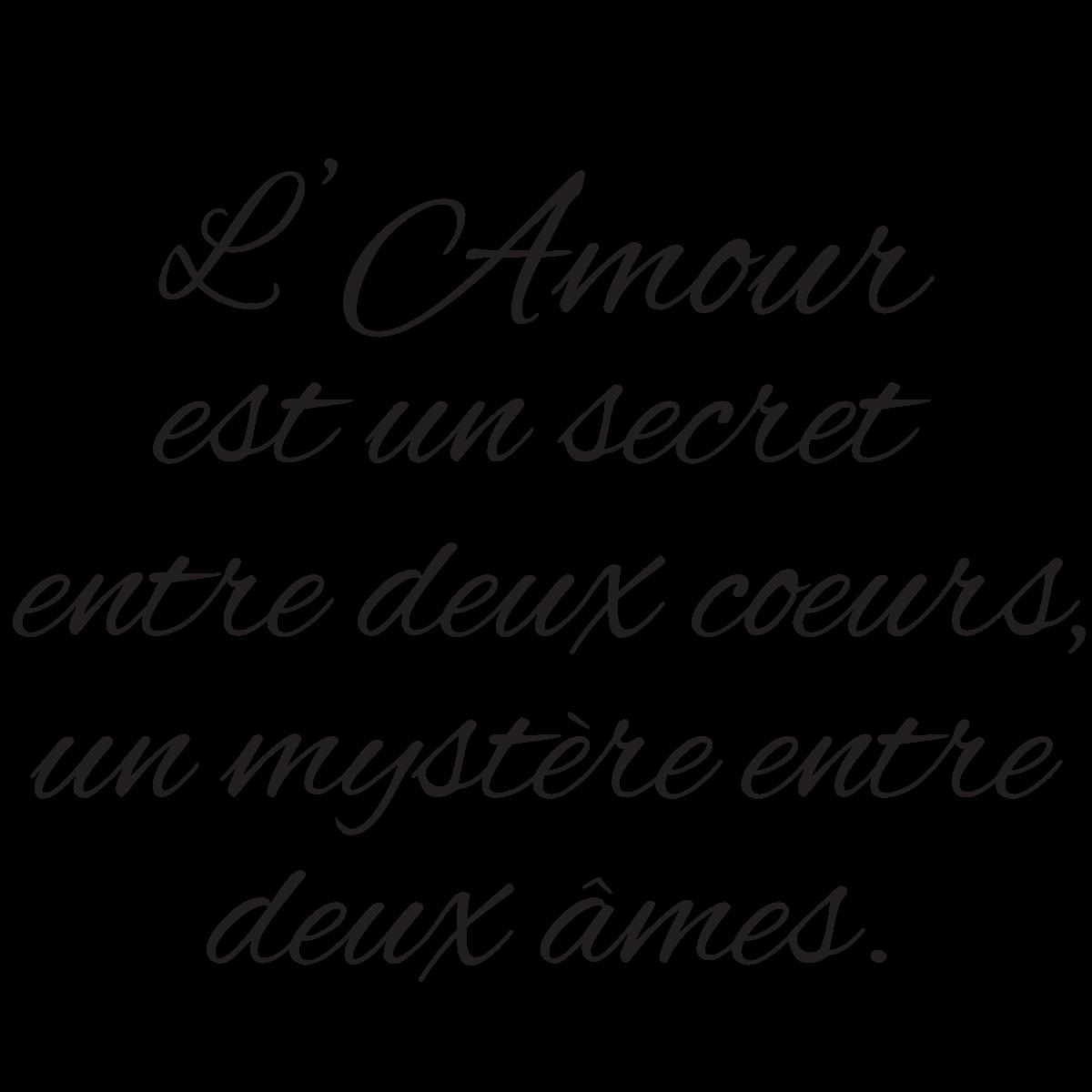 Sticker Citation L Amour Est Un Secret Mariage Citation
