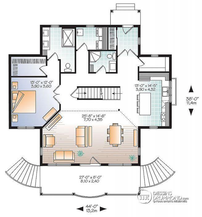 W2939-V1 - Maison genre chalet 4 chambres, mezzanine, bord de l\u0027eau