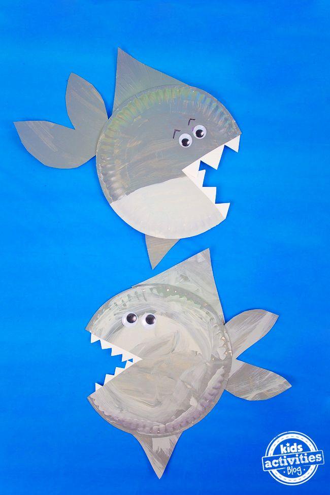 Photo of Shark Paper Plate Craft