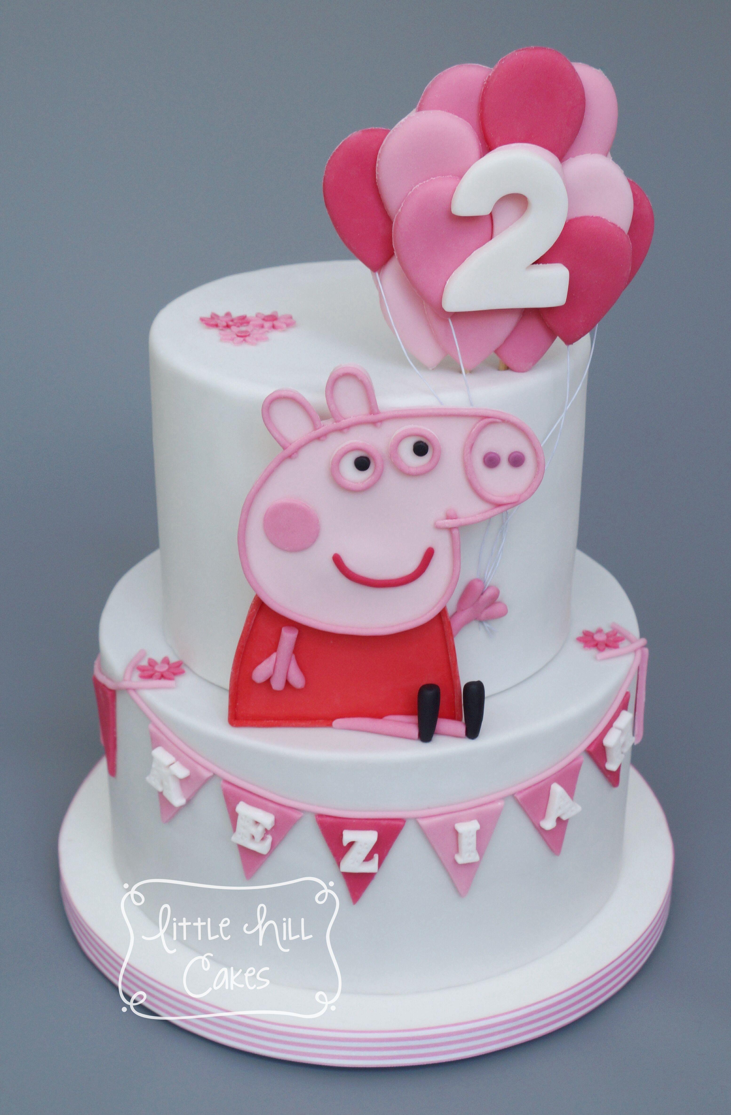 Peppa pig cake pig birthday cakes