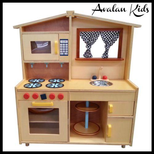 Black U0026 White Curtain Childrens Kitchen Toddlers Kids Kitchen Toy Oven  Fridge