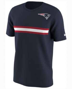 Nike Men S New England Patriots Color Rush Stripe T Shirt In Navy Chicago Bears Colors