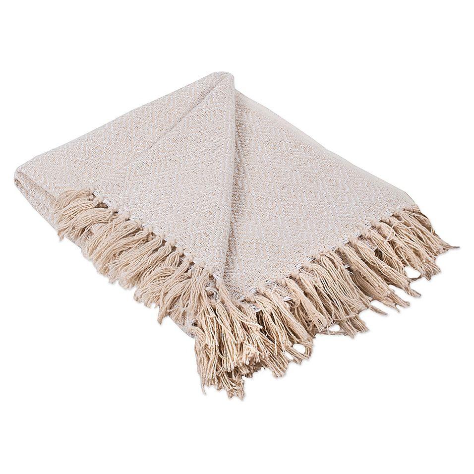 Diamond Fringe Throw Blanket In White Blanket Decorative Throws Cotton Throws
