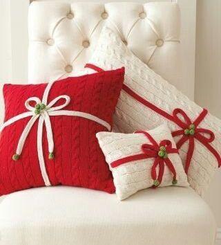 Cojines Navidad Manualidades.6 Manualidades De Navidad Cojines Navidenos Diy