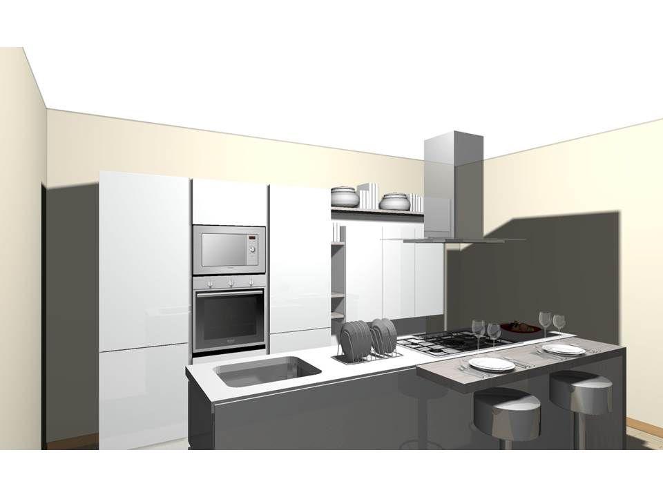 progetto cucina con isola centrale | cucine Domus arredi | Pinterest