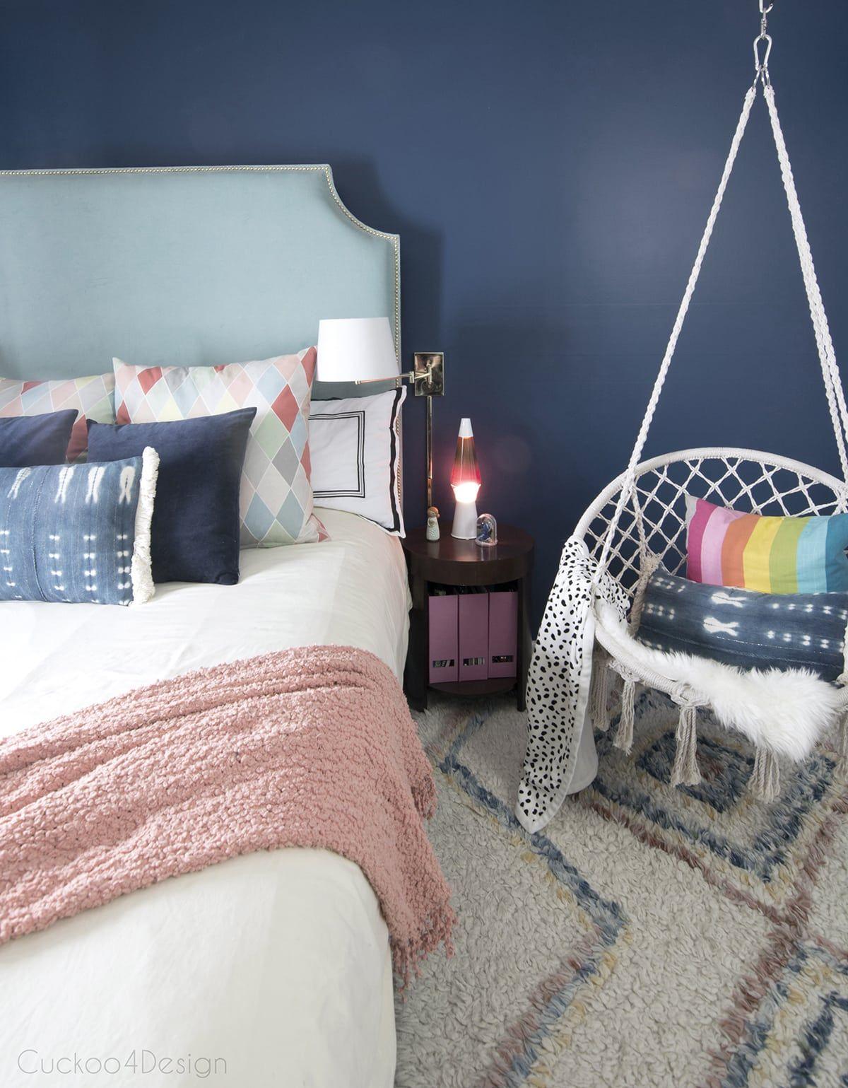 Dark Blue Girls Room | Cuckoo4Design | Blue girls rooms ...