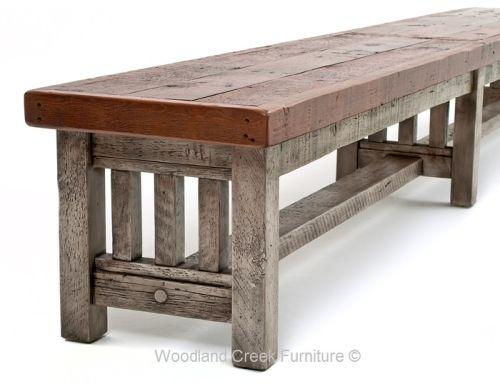 Pleasant Barnwood Bench Reclaimed Wood Bench Rustic Wood Bench Ibusinesslaw Wood Chair Design Ideas Ibusinesslaworg