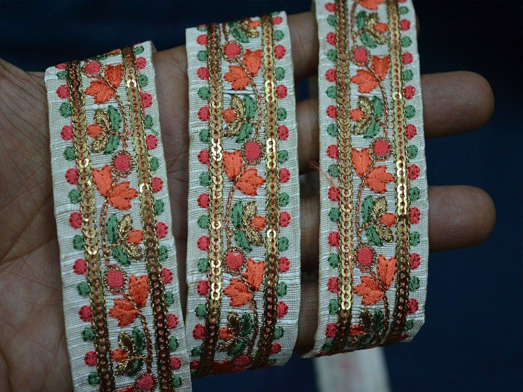 Wholesale Embroidered Ribbon Sewing Fabric Trim For Dresses Indian Sari Border By 9 Yard Silk Decorative Trim Craft Ribbon Fashion Trimmings You C With Images Sewing Ribbon