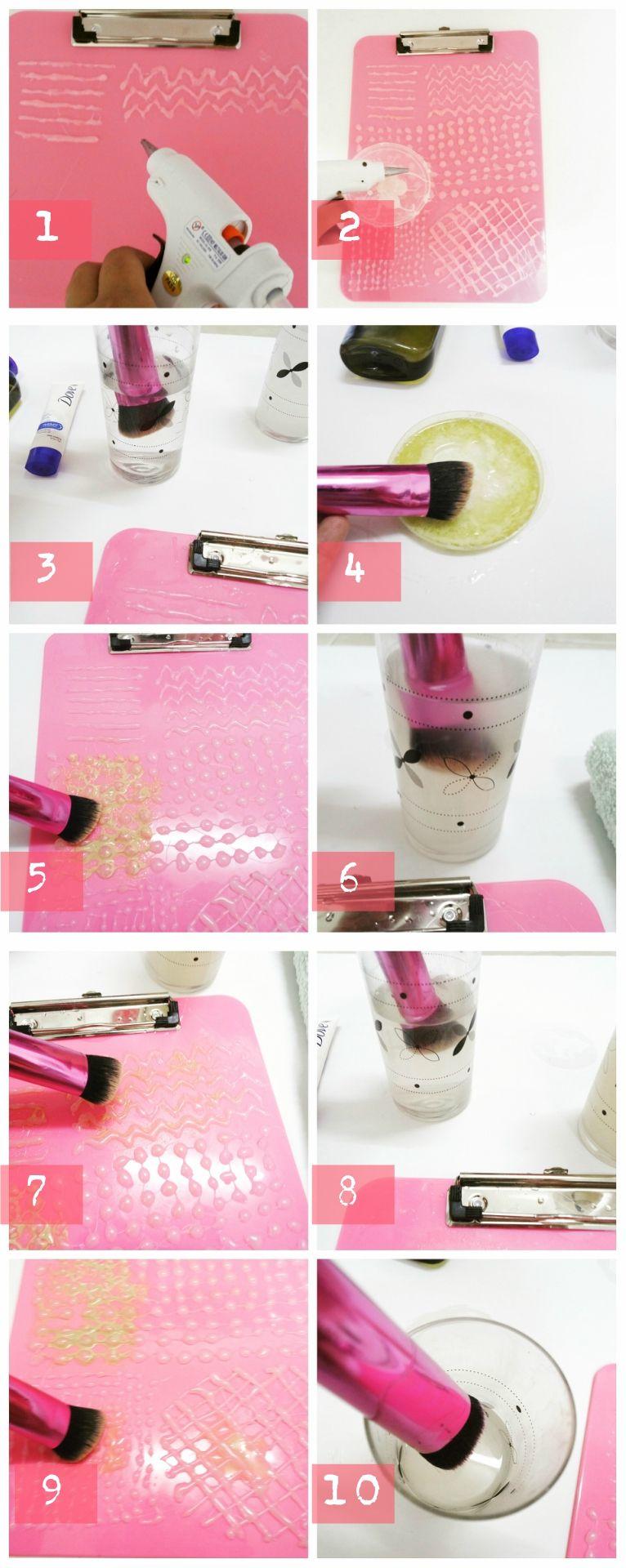 DIY BRUSH CLEANSING TUTORIALS Diy makeup brush, Diy