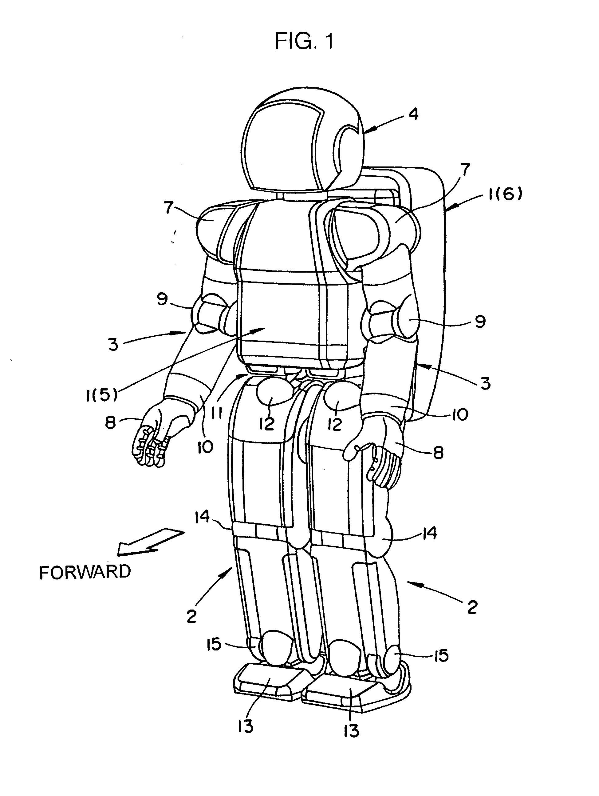 patent ep1207099b1 biped ambulatory robot google patents