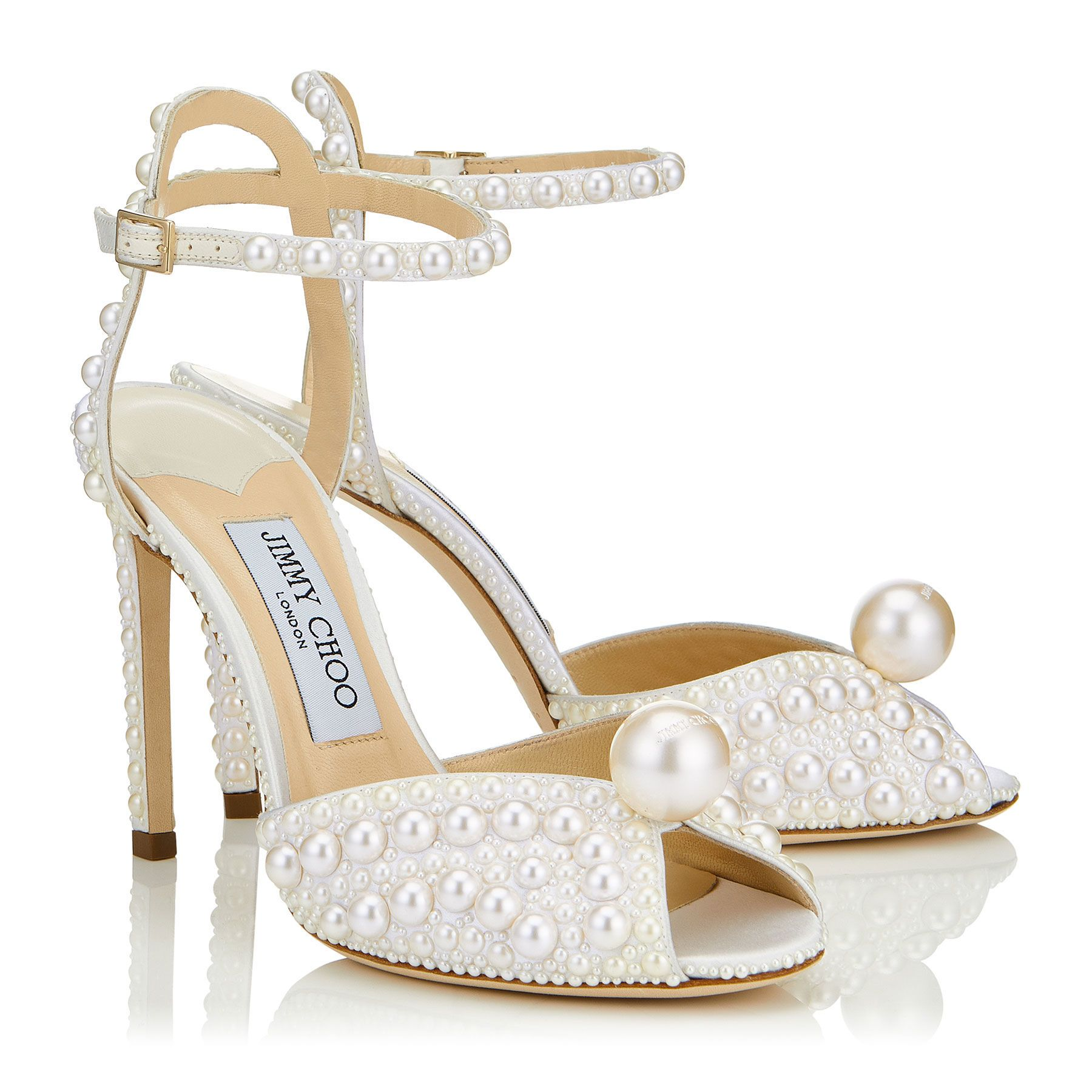 Sacora 100 In 2021 Bride Shoes Pearl Shoes Jimmy Choo Bridal